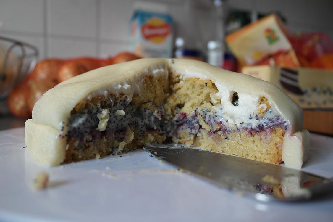 Marzipan Mohn Torte Bountalis Vegan